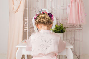 Personalised Flower Girl Dressing Gown