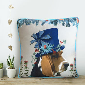 Basset Hound Cushion, The Milliners Dogs - children's room