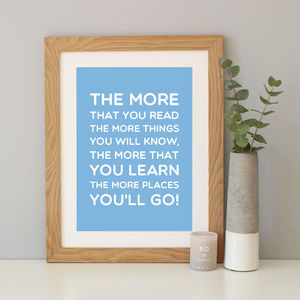 Dr Seuss 'Places You'll Go' Quote Print