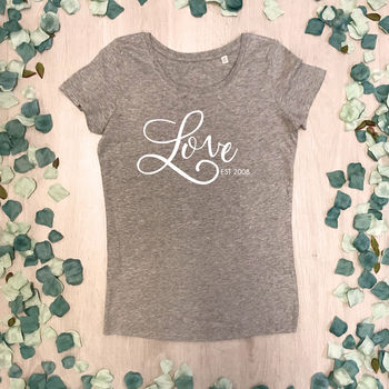 Love Established Personalised Valentine T Shirt