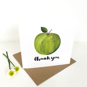 'Thank You' Apple Greetings Card