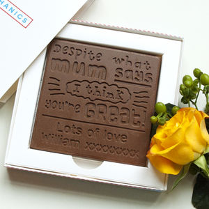 Personalised Father's Day 'You're Great' Chocolate Card