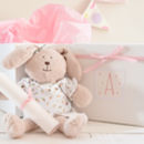 New Baby Gift. A Bunny, Box And Personalised Verse