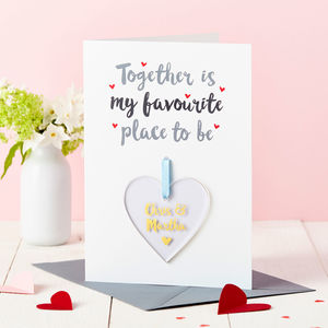Personalised Couple's Foiled Keepsake Card - valentine's cards