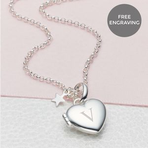 Girl's Personalised Small Heart Locket
