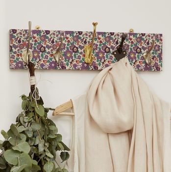Liberty Print Mismatched Coat Rack With Five Hooks