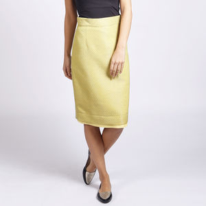 Dorset Jacquard Pencil Skirt - women's fashion
