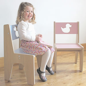 Personalised Wooden Children's Chair - children's furniture