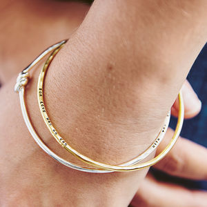 Personalised 'Tie The Knot' Bangle - bracelets & bangles