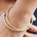 Personalised 'Tie The Knot' Bangle