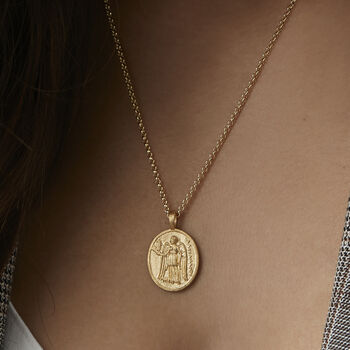 Athena Coin Necklace Female Empowerment Gold Or Silver