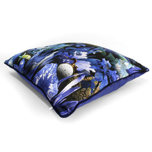 Woodland Undergrowth Luxury Silk Cushion