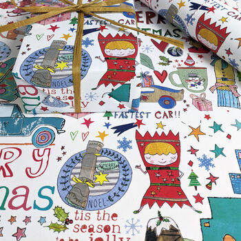 Traditional Christmas Recycled Wrapping Paper