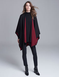Merino Wool Reversible Cape - wedding fashion