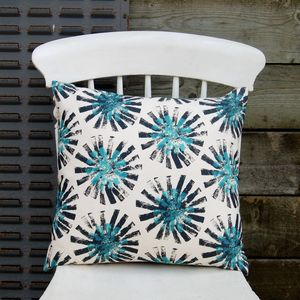 Small Square Black Dandelion Cushion - cushions