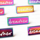'Dreamer' Rainbow Plated Enamel Pin
