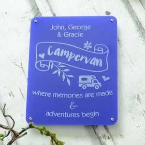Campervan Personalised Engraved Acrylic Sign - art & decorations
