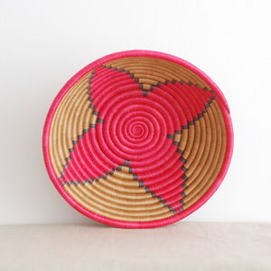 Fairtrade Oxblood Black Woven Basket