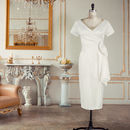 Ivory Loretta V Neck Wedding Dress With Sash