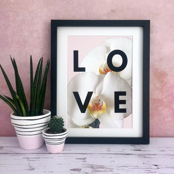 Orchid 'Love' Floral Print