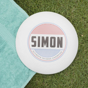 Personalised Retro Name Frisbee - games