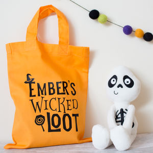 Personalised Wicked Halloween Loot Bags - bags, purses & wallets