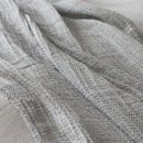 Silver Soft Linen Jacquard Throw