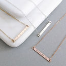 Skinny Reversible Personalised Bar Necklace