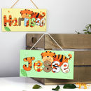 Personalised Jungle Tiger Canvas Sign