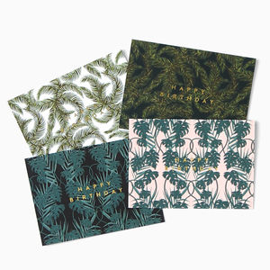 Box Of Botanical Birthday Cards - birthday cards