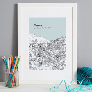Personalised Verona Print - maps & locations