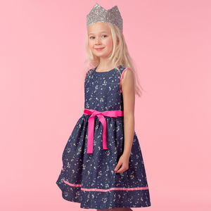 Skye Navy Stars Print Dress - clothing