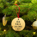 'Our First Christmas' Couples Christmas Decoration