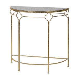 Gold Console Table With Glass Top - furniture