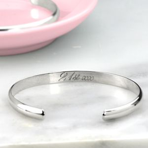 Open Silver Bangle - free delivery gifts