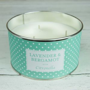 Lavender And Bergamot Citronella Three Wick Candle