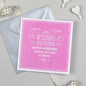 'Vintage Heart' Wedding Invitation