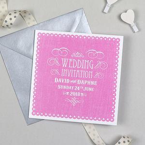 'Vintage Heart' Wedding Invitation