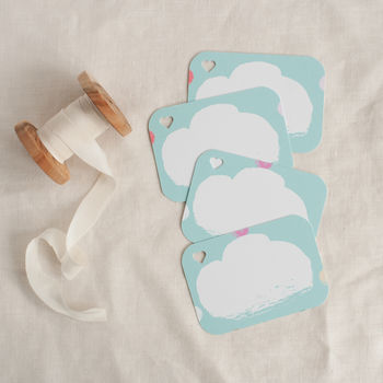 Four Gift Tags To Match The Unicorn Party Gift Wrap