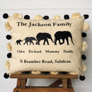 Happy Family Tassel Cushion