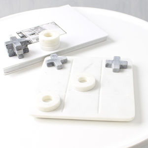 Marble Noughts And Crosses Board Game - gifts for him