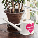 Personalised Heart Cream Watering Can