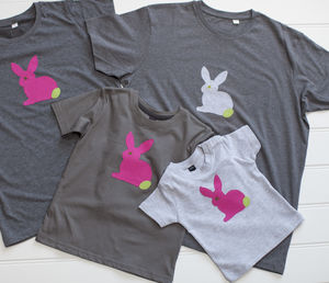 Mum And Child Rabbit T Shirt Set