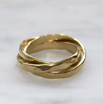 Gold Hammered Russian Wedding Ring