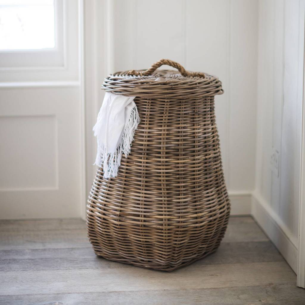 Rattan Laundry Basket By All Things Brighton Beautiful