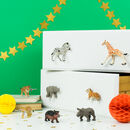 Animal Cupboard Knobs ~ Set Of Eight Safari Animals