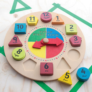 Personalised Shape Sorter Clock