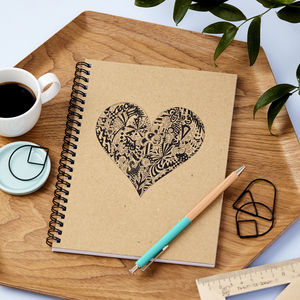 Personalised 'Heart Doodle' Notebook