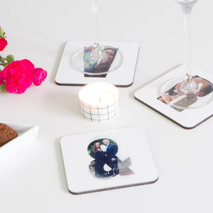 Personalised Photo Letter Coaster By Hello Ruth - tableware