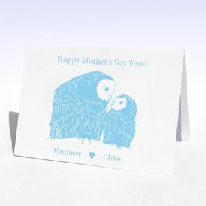 Mother's Day Owl And Owlet Mother's Day Card